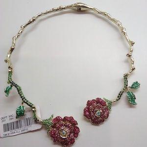 Betsey Johnson New Rose Garden Hinge Necklace